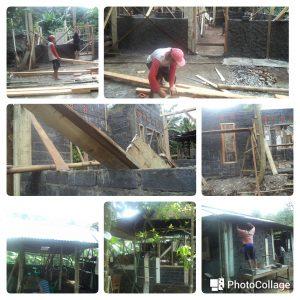 Kegiatan Pemugaran Rumah Tidak Layak Huni Warga Masyarakat Desa Candinata